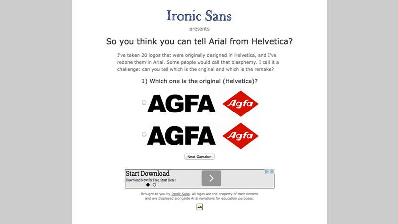 Graafinen.com - Pelit - Arial or Helvetica